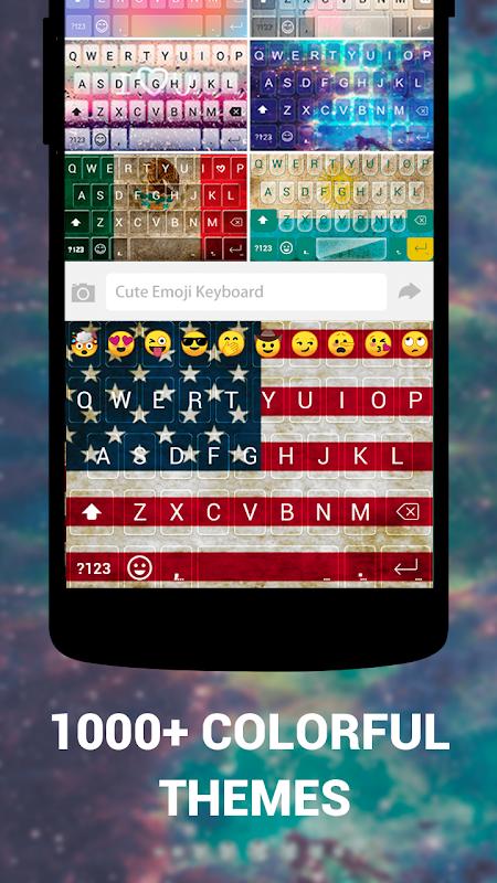Android Cute Emoji Keyboard Premium - GIF, Emoticons Screen 1