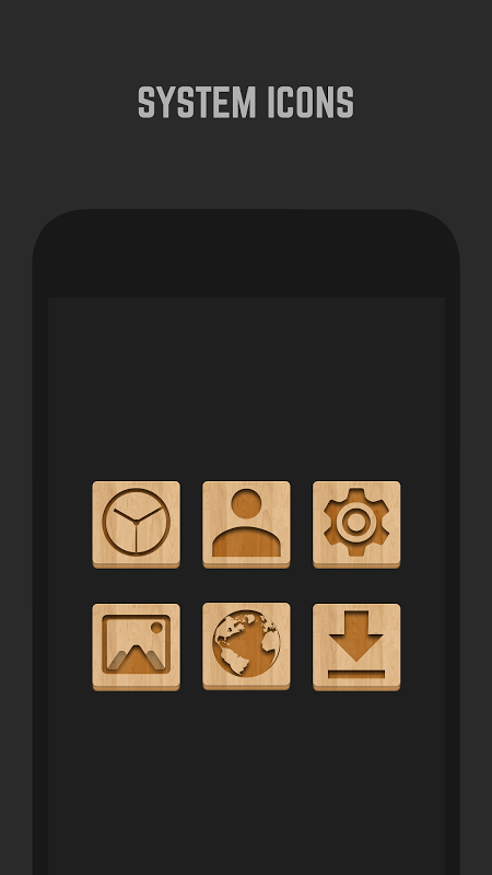 Android Wood Icon Pack Screen 2