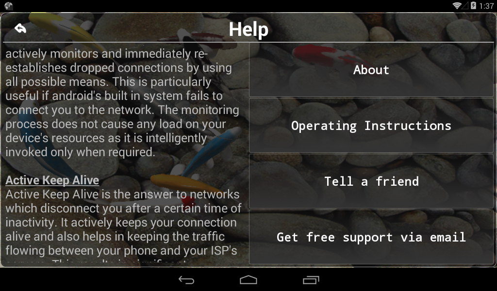 Connection Stabilizer Booster 1.9.4 Screen 11