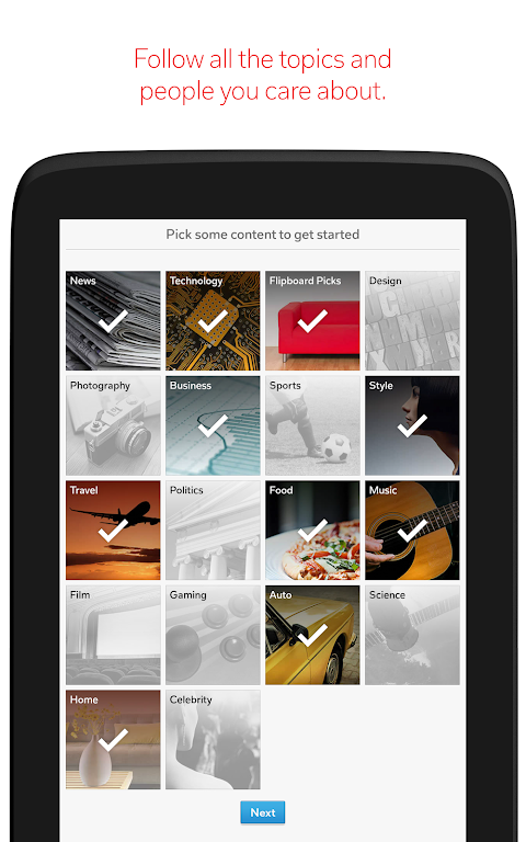 Android Flipboard: News For Any Topic Screen 8