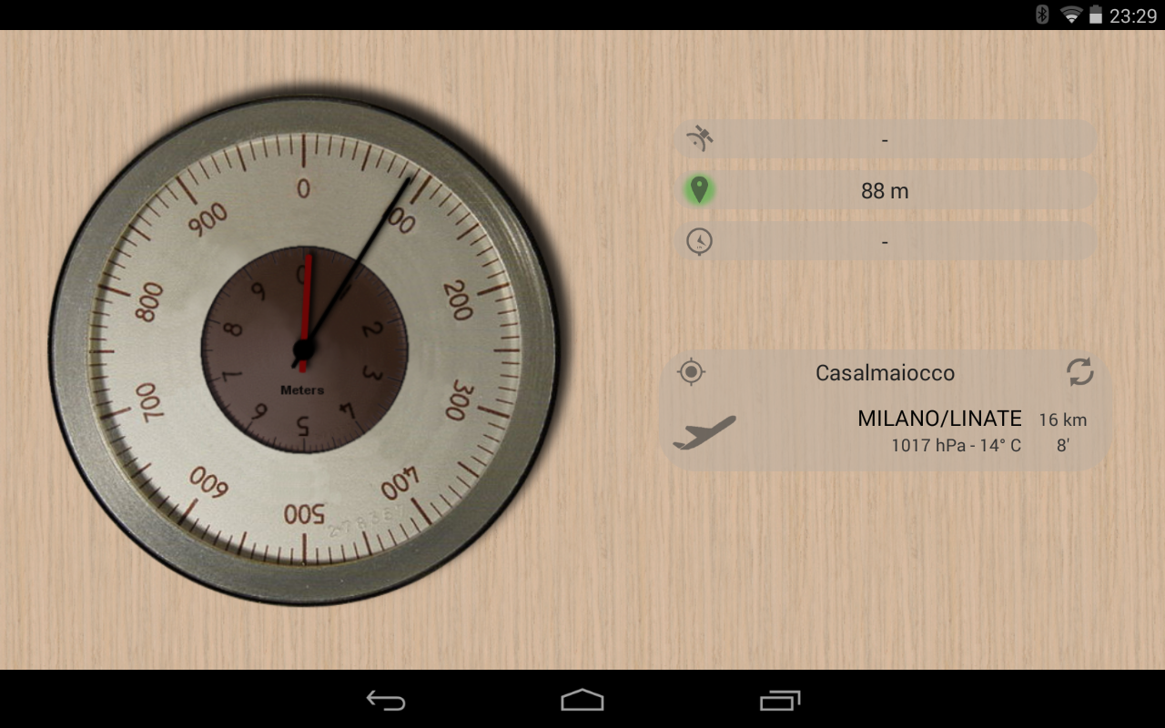 Accurate Altimeter PRO 2.0.7 beta Screen 1
