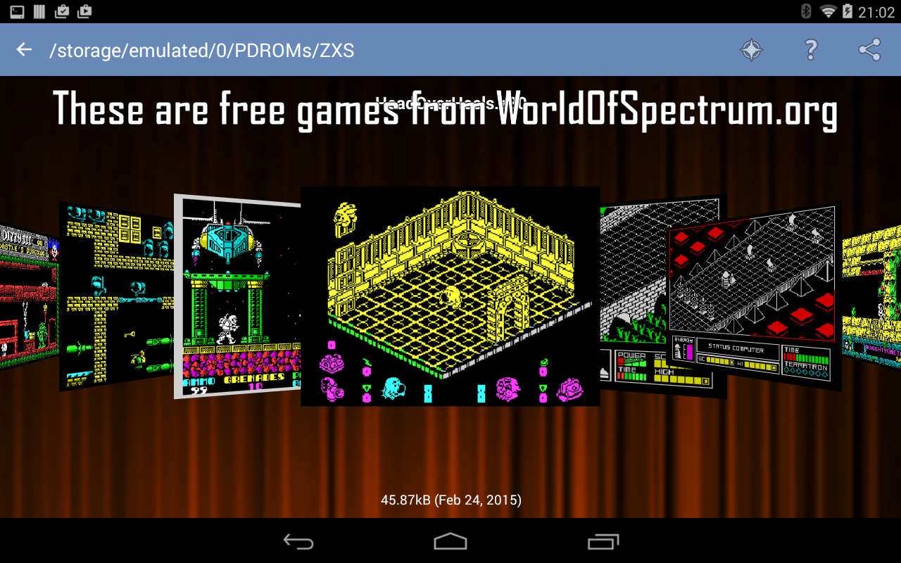 Android Speccy - ZX Spectrum Emulator Screen 18