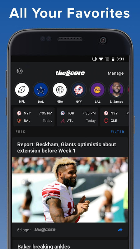 theScore: Sports & Scores 3.20.2-B Screen 5