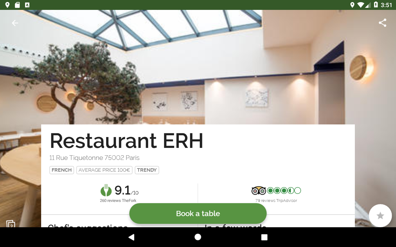 Android TheFork - Restaurants booking Screen 7