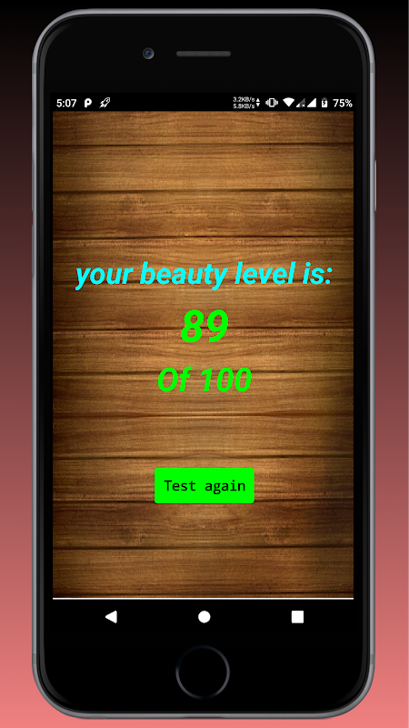 Test Your beauty level 1.0 Screen 1