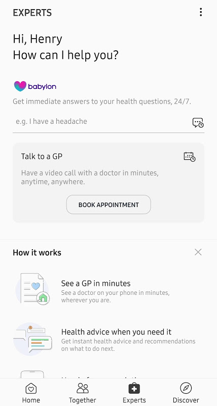Samsung Health 6.1.2.025 Screen 2