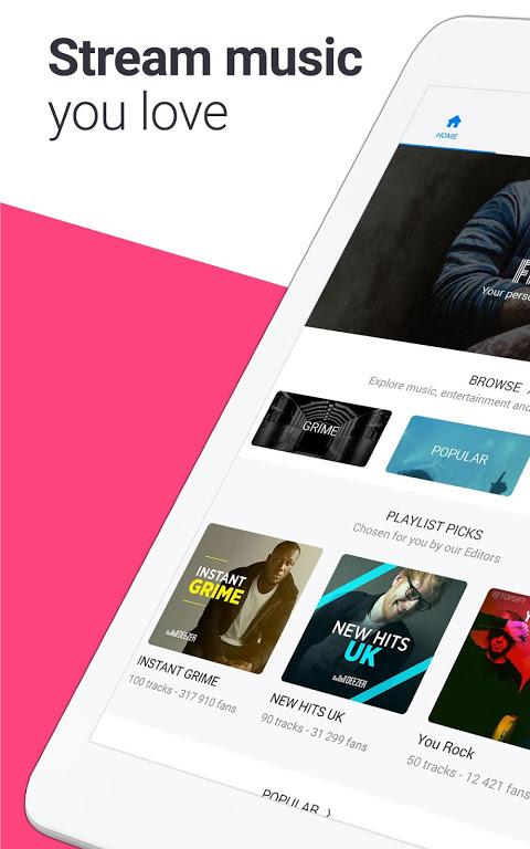 Deezer: Stream Music, Playlists, Albums & Songs 5.4.25.16 Screen 11