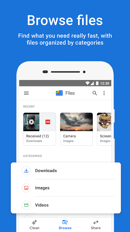 Files by Google: Clean up space on your phone 1.0.224103129 Screen 2
