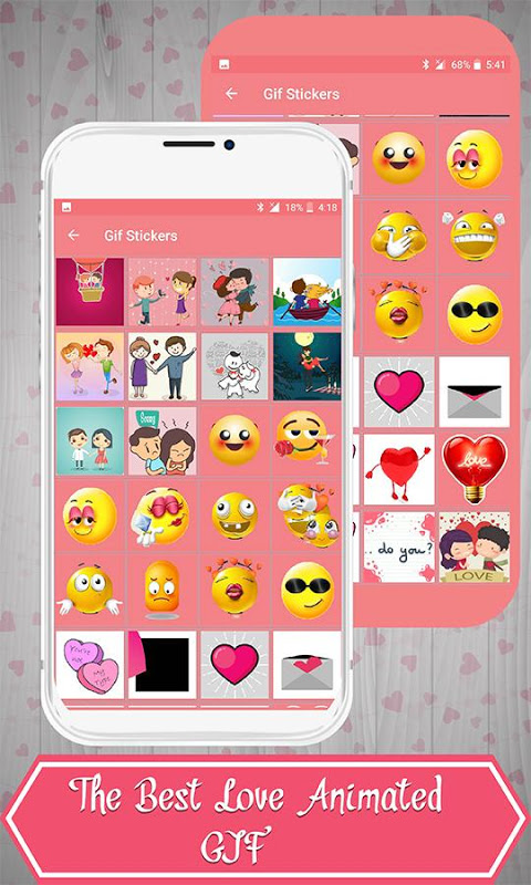 Android Love Stickers Screen 4