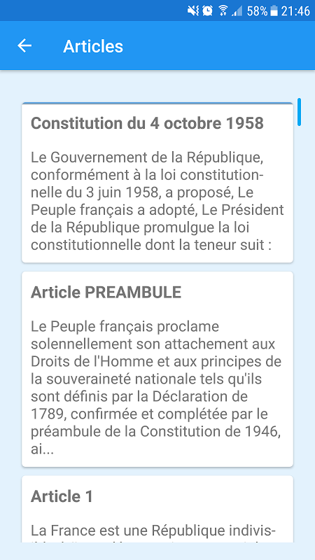 French Constitution 1.0 Screen 1
