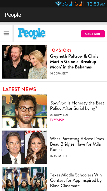 Android US Newspapers and Magazines Screen 6