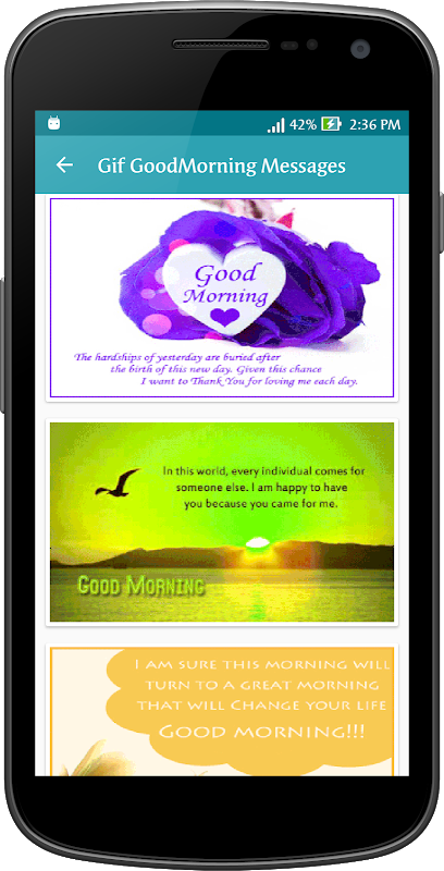 Android Gif Good Morning Messages Collection Screen 14