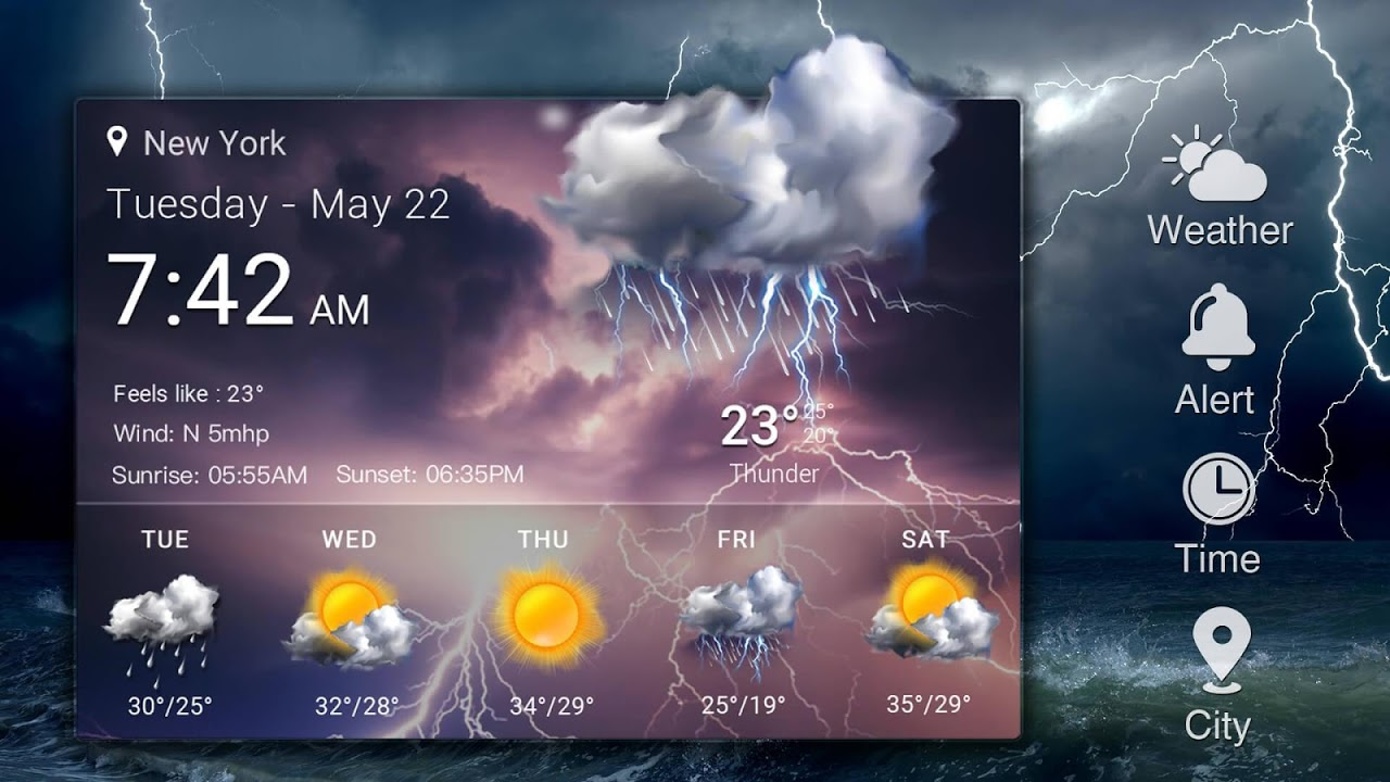 Android Local Weather Report Widget Screen 8
