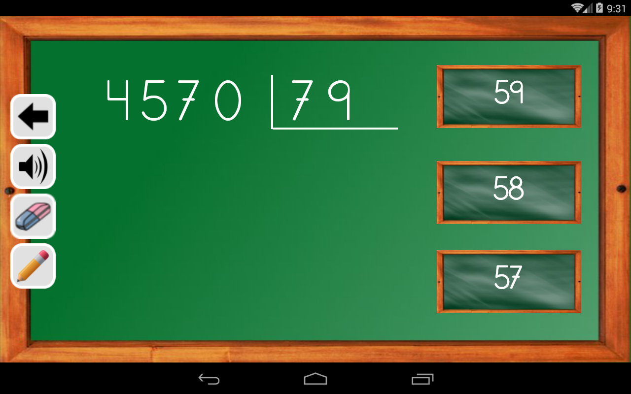 Android Maths Trainer Screen 15