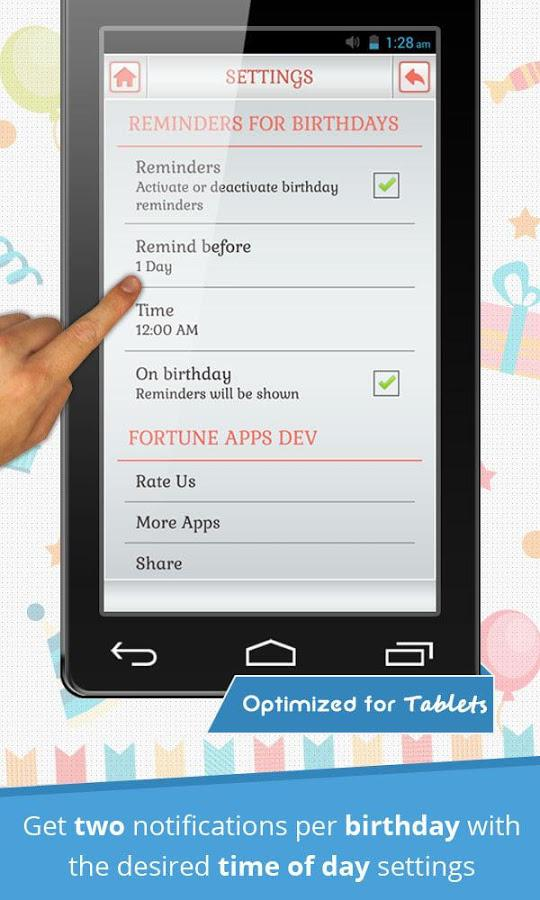 Birthday Reminder & Calendar 1.0.5 Screen 3