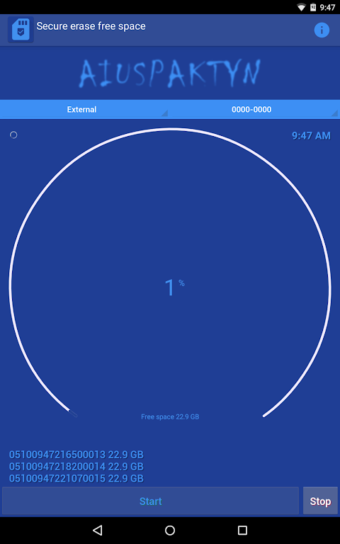 Android Secure Eraser Screen 3