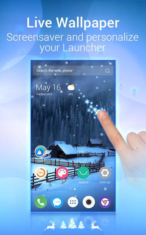 Android U Launcher Lite – FREE Live Cool Themes, Hide Apps Screen 1