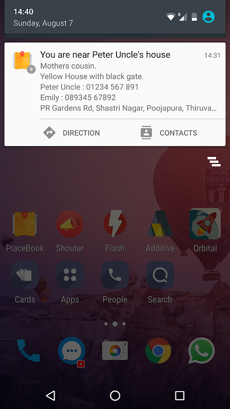 Android Address book - Placebook Screen 6