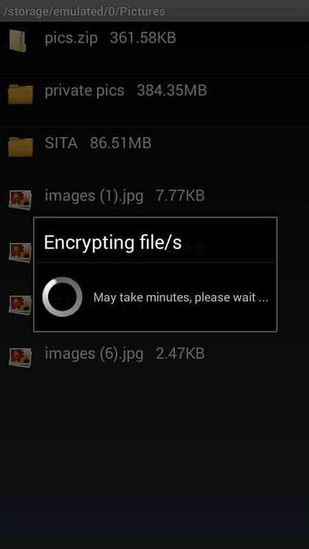 Android Secure Folder, file encrypter Screen 4