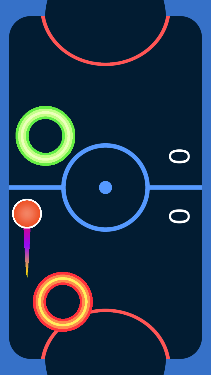 Android Glow Air Hockey Screen 3