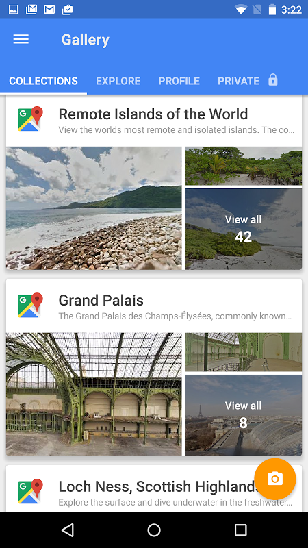 Android Google Street View Screen 1