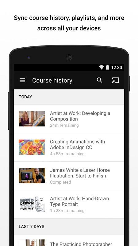 Android Lynda - Online Training Videos Screen 4