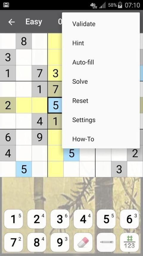 Sudoku 10.2.5.g Screen 4