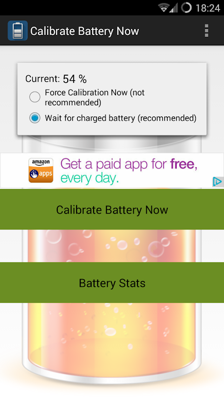 Calibrate Battery Now (root) 1.3 Screen 1