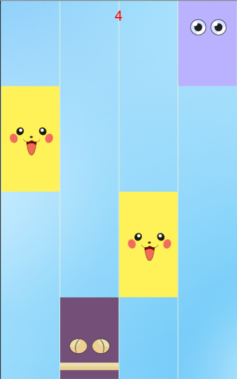 Android Piano tiles-don't tap pikachu Screen 3