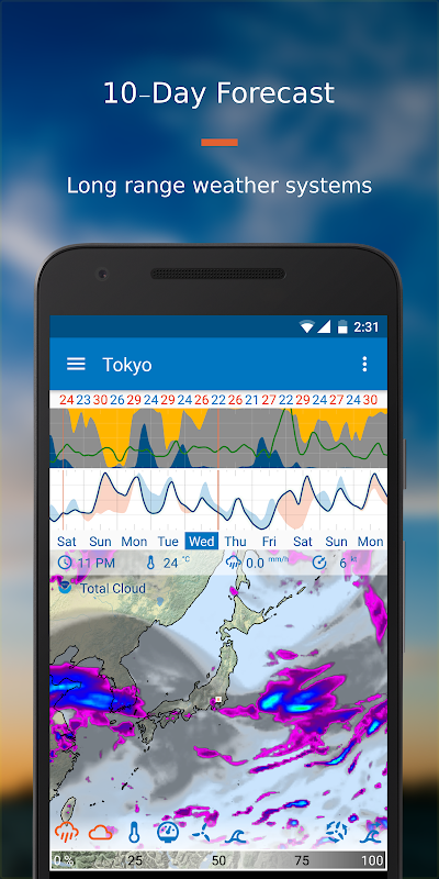 Android Flowx: Weather Map Forecast App Screen 6