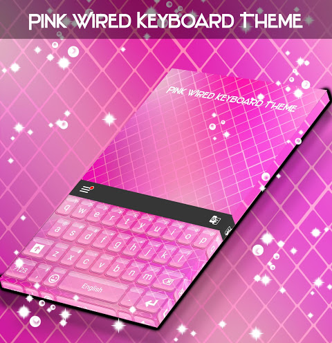 Android Pink Wired Keyboard Theme Screen 3