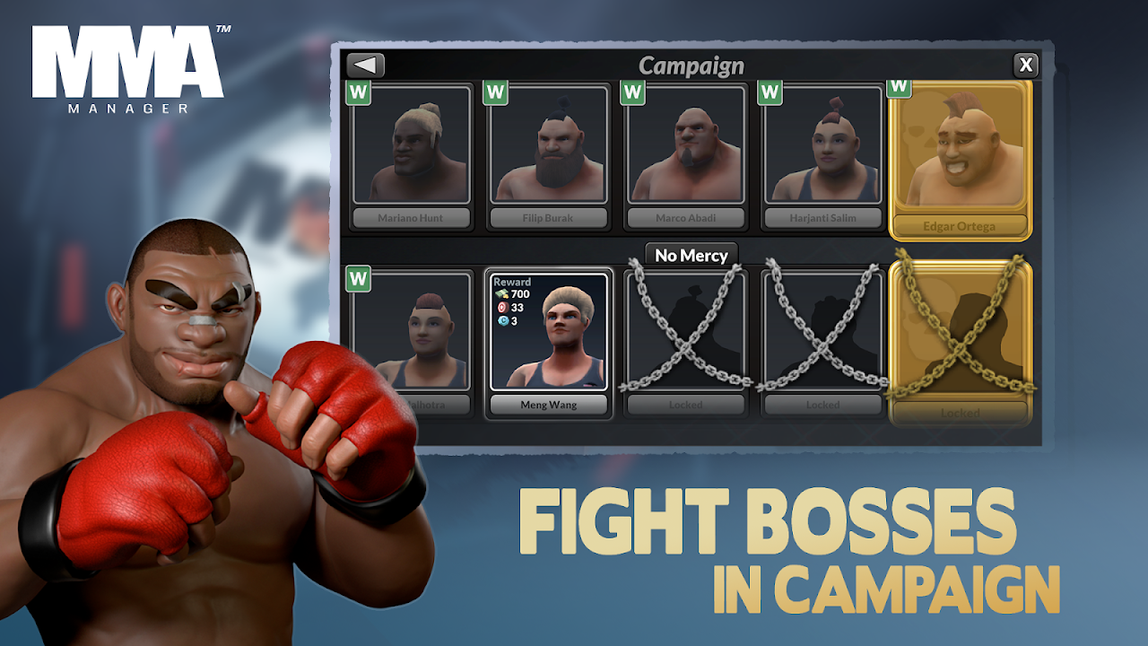 MMA Manager 0.8.4 Screen 7