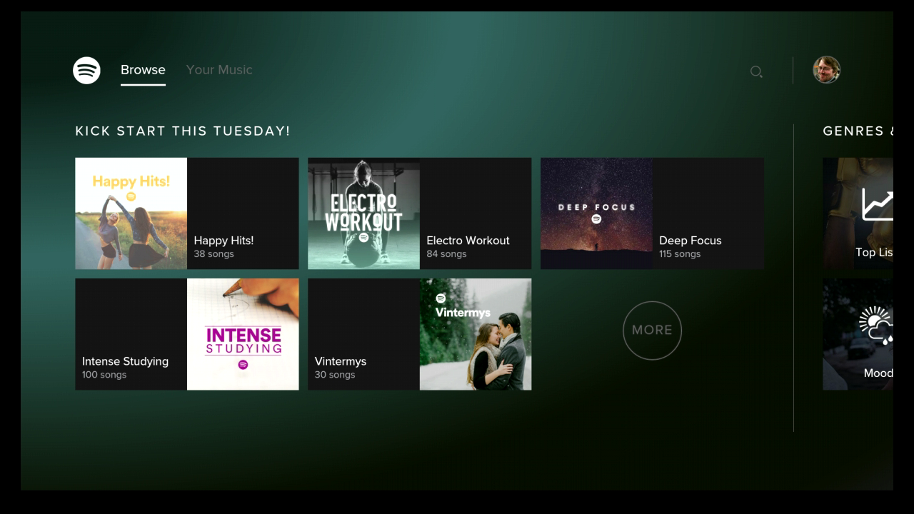 Spotify Music - for Android TV 1.12.0 Screen 1