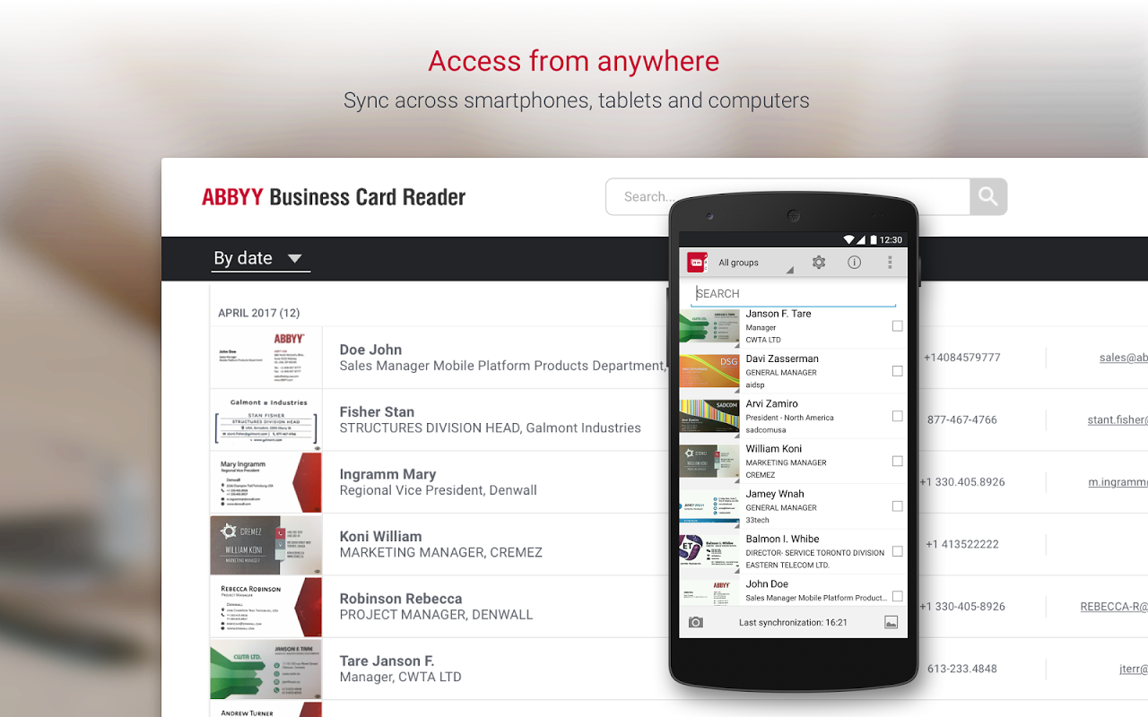 Business Card Reader Pro - Business Card Scanner 4.7.621 Screen 9