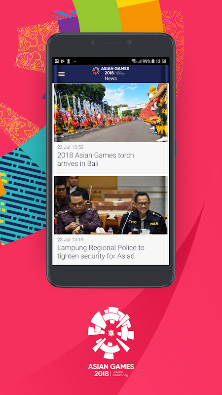 Android 18th Asian Games 2018 Official App Screen 2