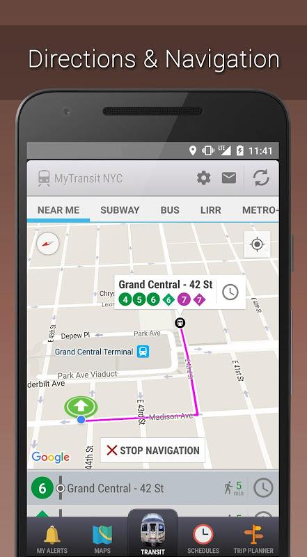 MyTransit NYC Subway, Bus, Rail (MTA) 3.8.3 Screen 2