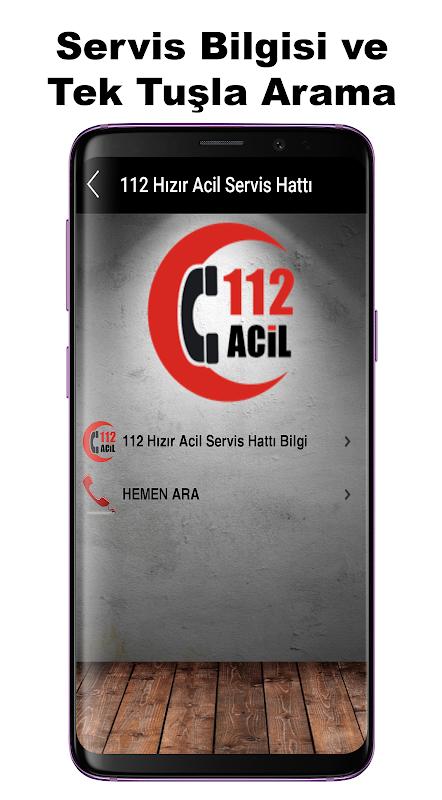 Android Acil Önemli Numaralar Screen 1