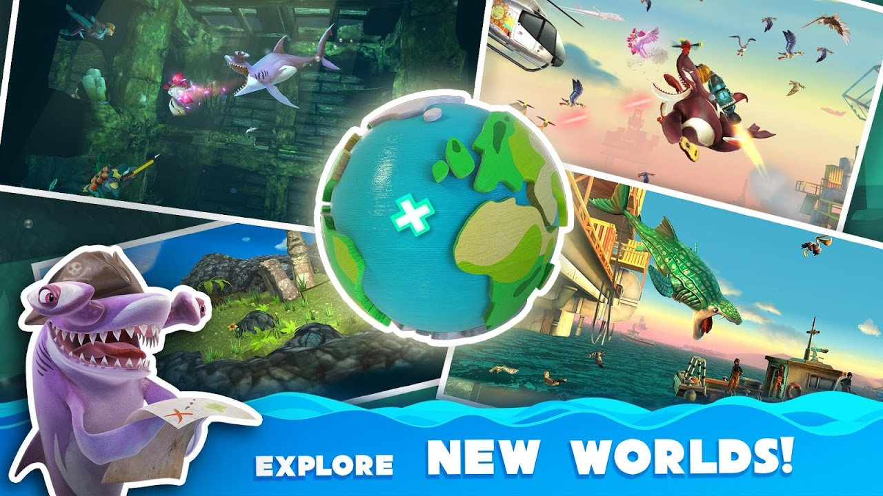 Android Hungry Shark World Screen 6