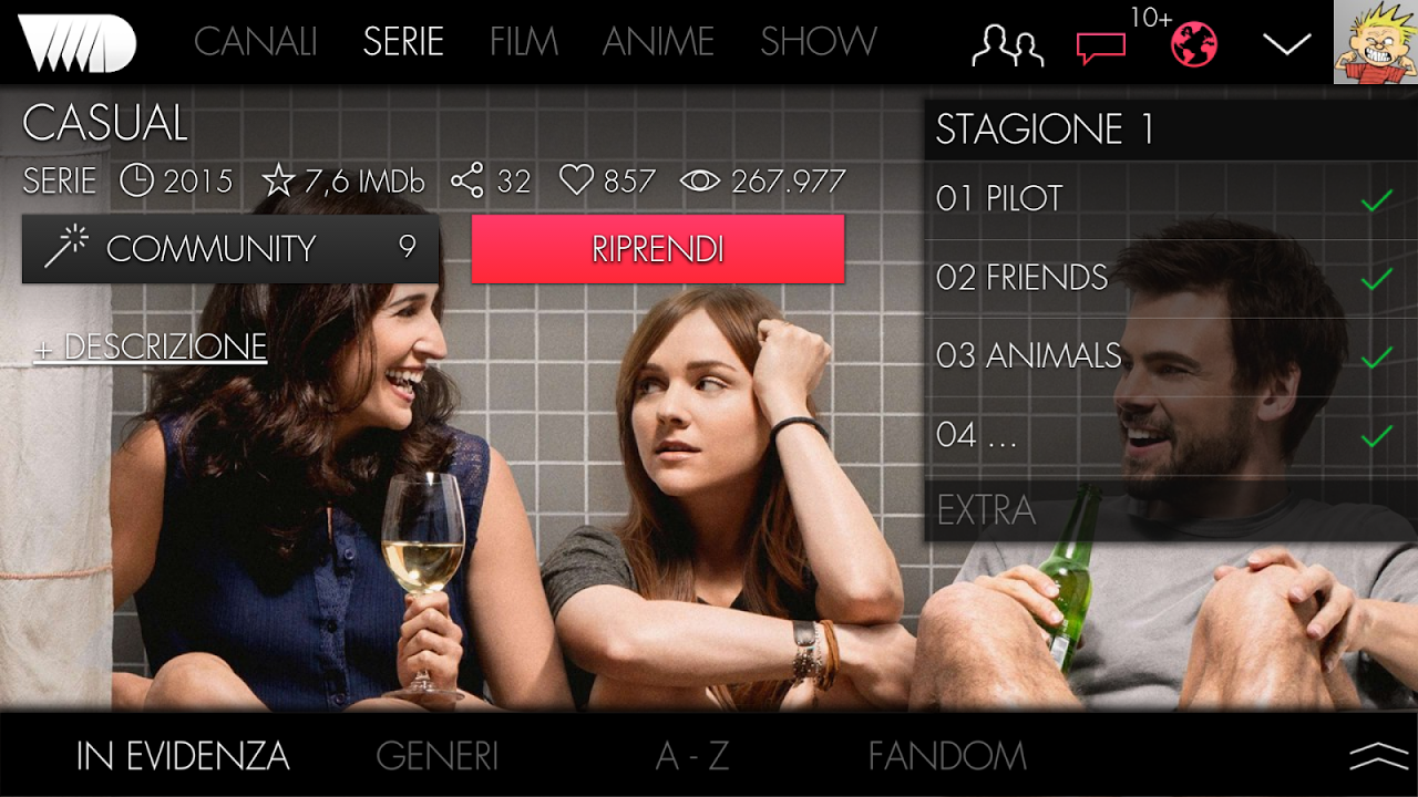 VVVVID 1.2.0 Screen 2