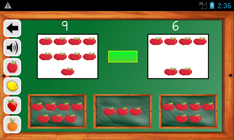 Android Maths Trainer Screen 2