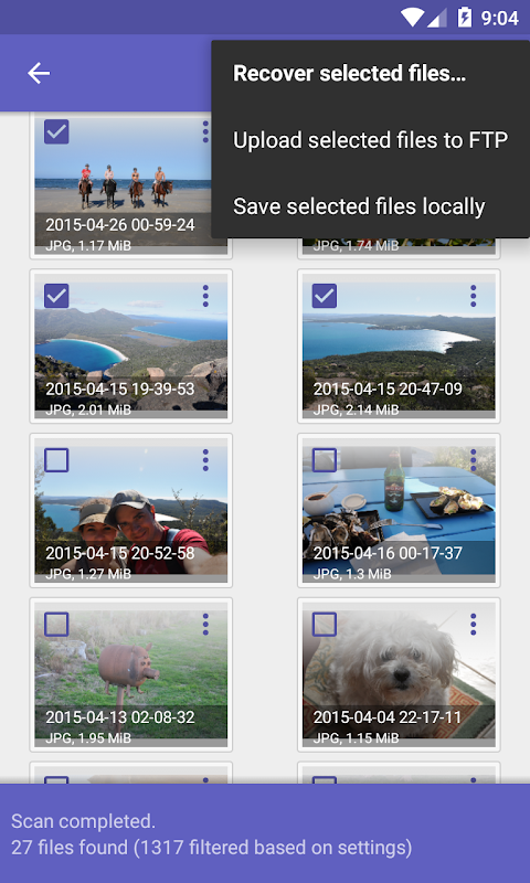 DiskDigger photo recovery 1.0-2018-12-07 Screen 1