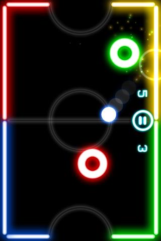 Android Glow Hockey Screen 1