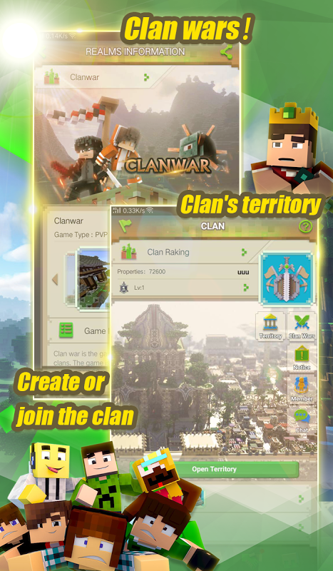 Android Blockman Multiplayer for Minecraft Screen 1