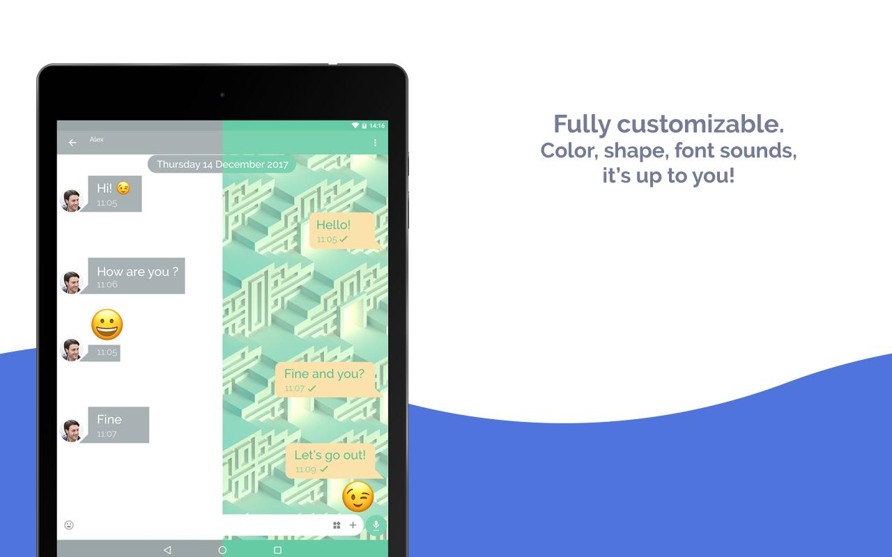 Mood Messenger - SMS & MMS 1.78n Screen 1
