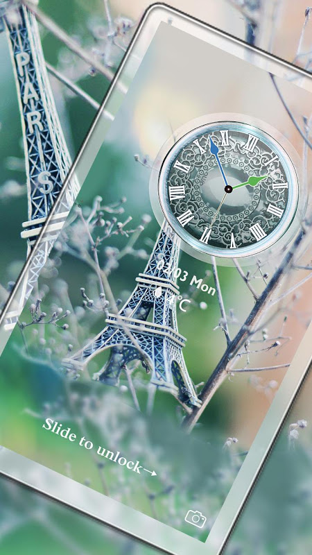 Android Eiffel Tower Of Paris Locker Screen 4