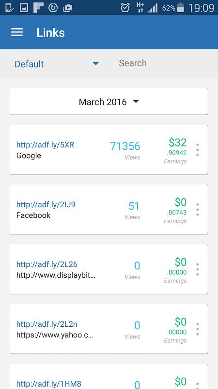 AdFly - Paid URL Shortener 2.0.0 Screen 1