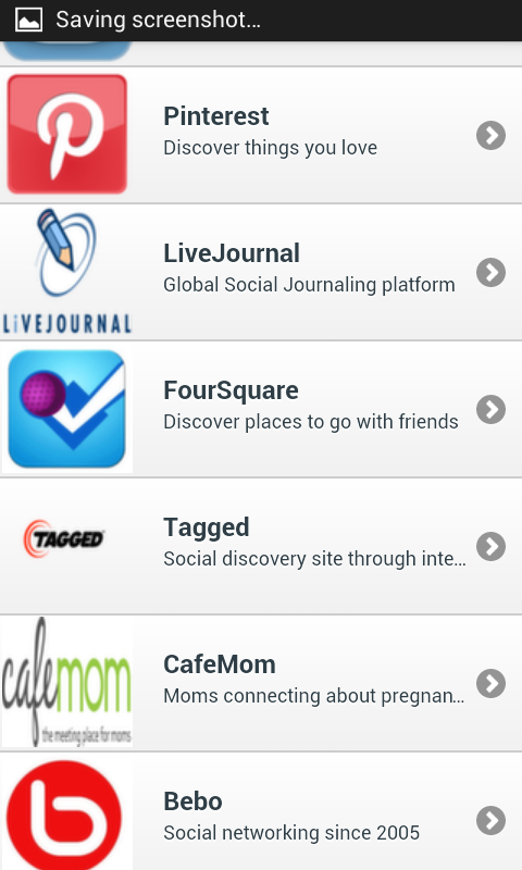 Android Social Networks Mobile Screen 8