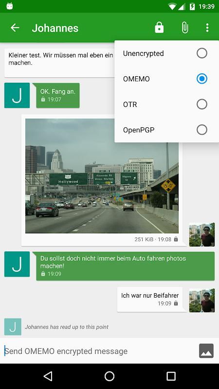 Android Conversations (Jabber / XMPP) Screen 2