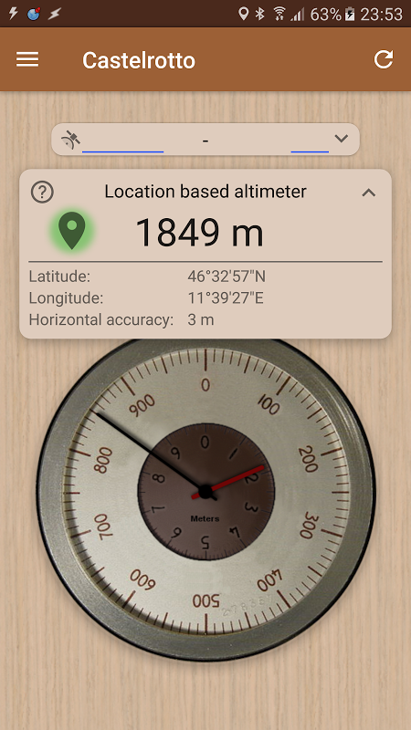 Accurate Altimeter PRO 2.0.7 beta Screen 3