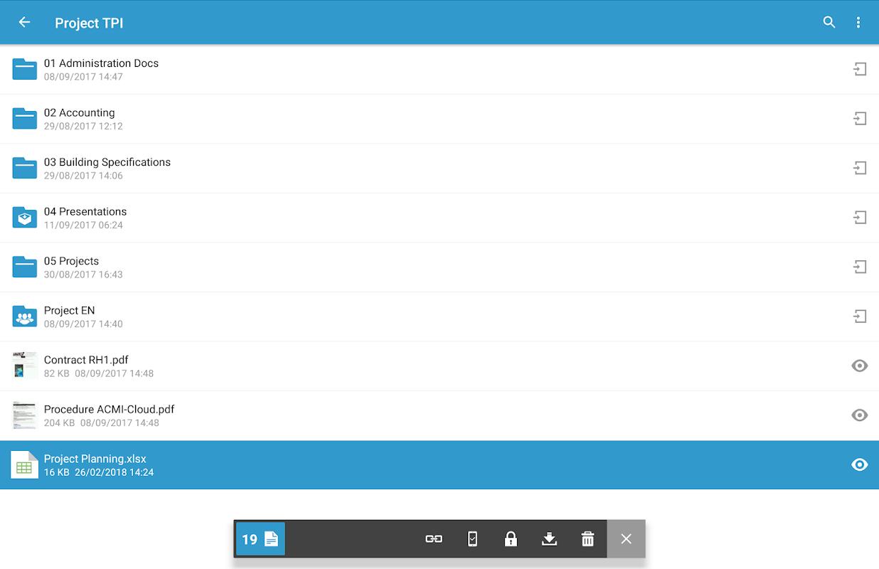 Oodrive Mobile 1.8 Screen 13